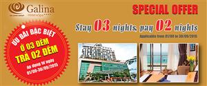 Siêu khuyên mãi tháng 9.2015 - Khách sạn Galina 4 sao Nha Trang - Nghỉ 3 trả 2