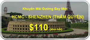 China Southern Airlines khuyến mãi đường bay mới HCM- Thượng Hải