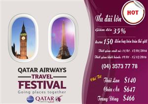 Hàng không Qatar Airlines khuyến mãi khủng 2016