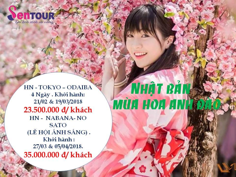 Lịch khởi hành tour Nhật 2018